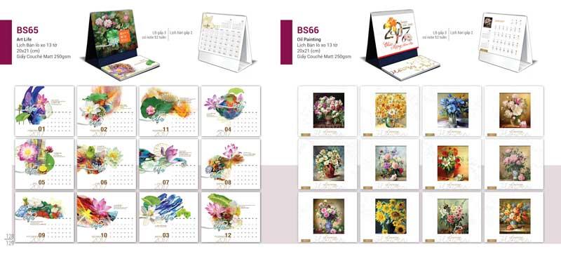 Nhận in ấn lịch để bàn chữ A giá rẻ tại Hà Nội