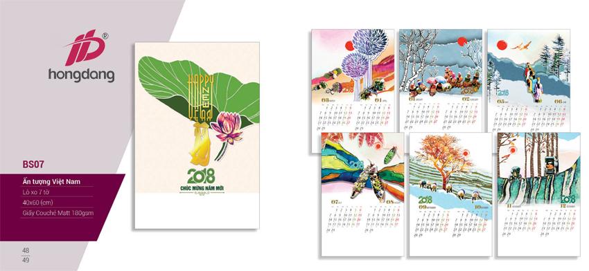 Thiết kế lịch tết 2018 đẹp mà miễn phí tại In Hồng Đăng