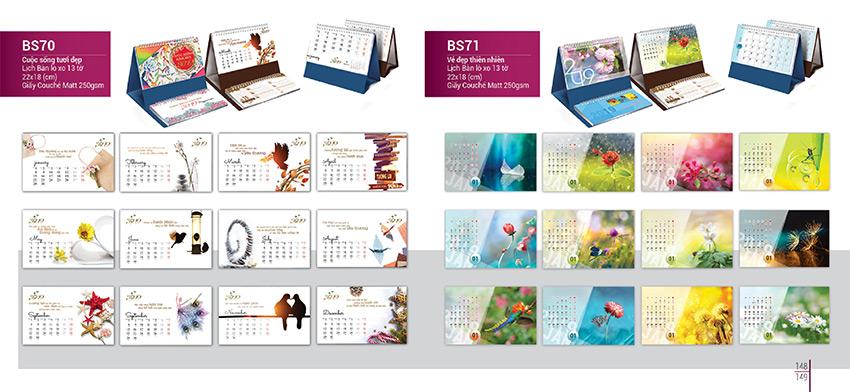 Thiết kế lịch để bàn đẹp