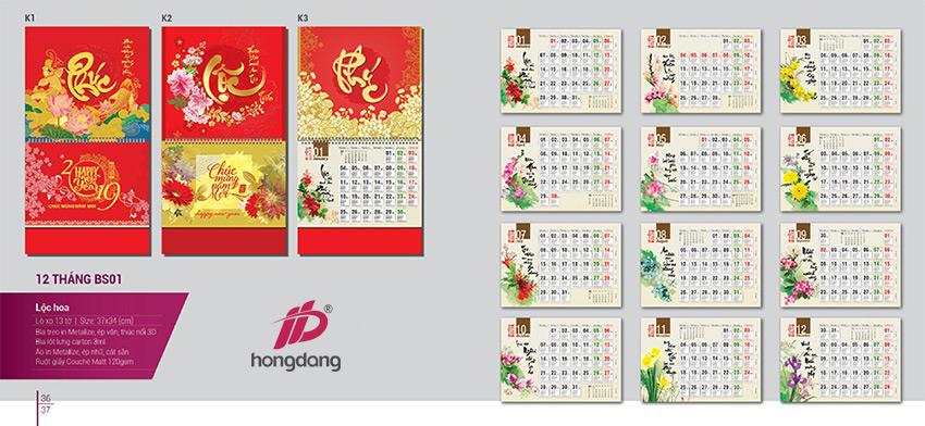 Lựa chọn của khách hàng khi in lịch tết 2019 tại Hà Nội