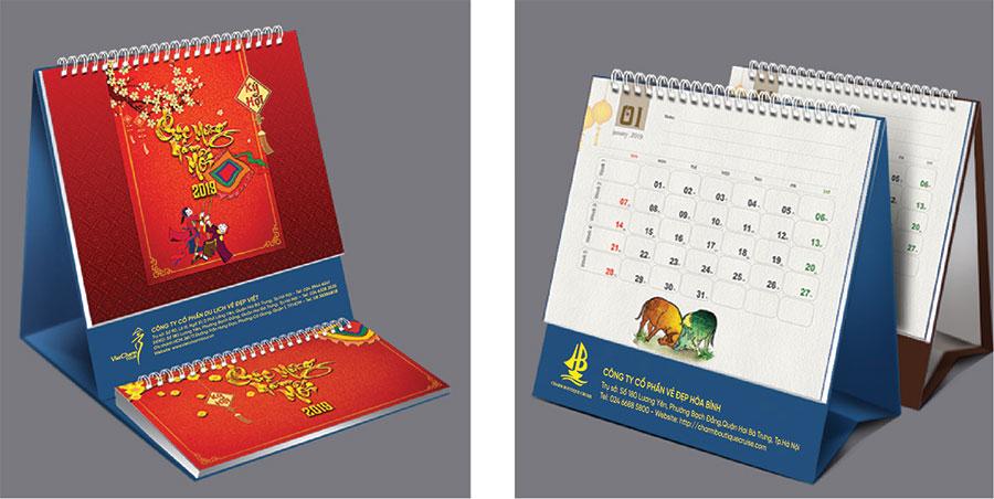 Cơ sở nhận in lịch tết thiết kế tại Hà Nội